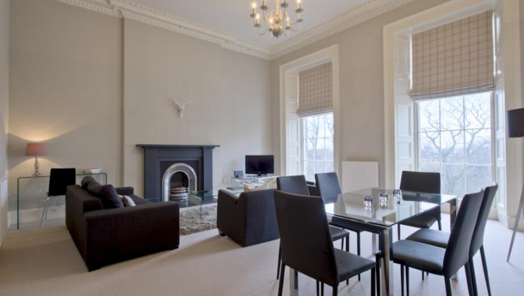 Sophisticated living area in Q Residence Apartments - Citybase Apartments