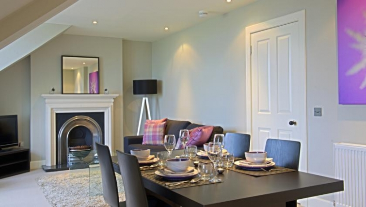 Classy dining area in Q Residence Apartments - Citybase Apartments