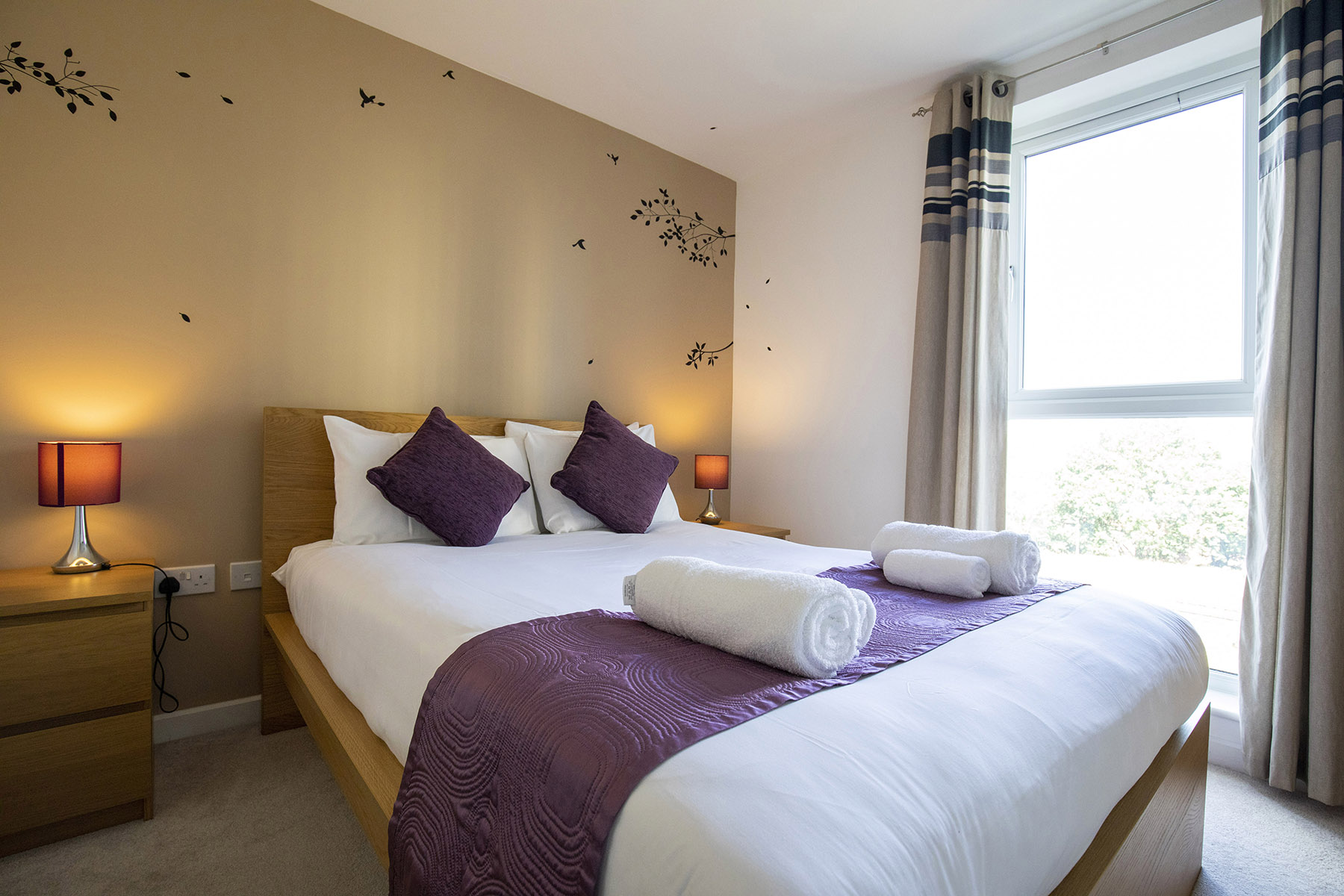 Bedroom at New Central Apartments, Centre, Woking - Citybase Apartments