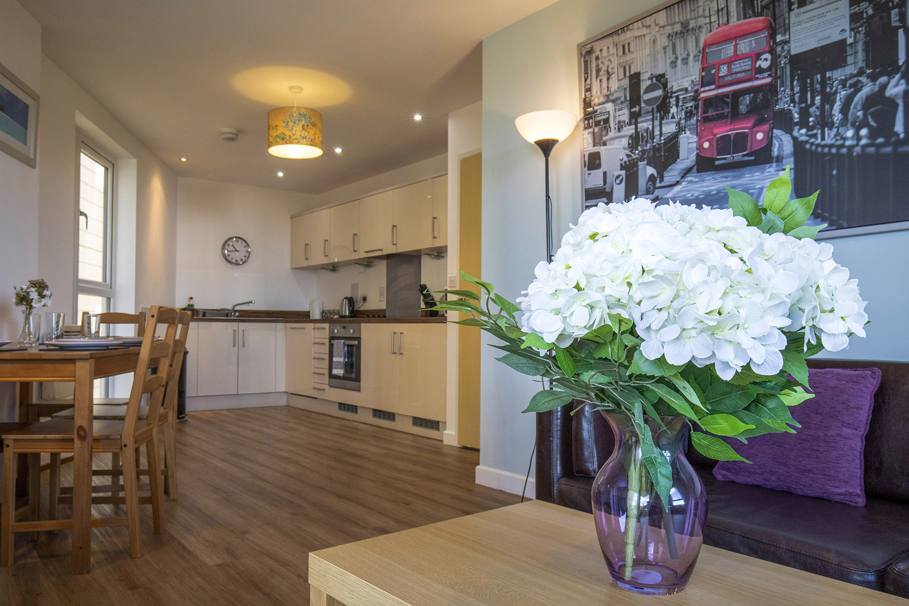 Kitchen/diner at New Central Apartments, Centre, Woking - Citybase Apartments