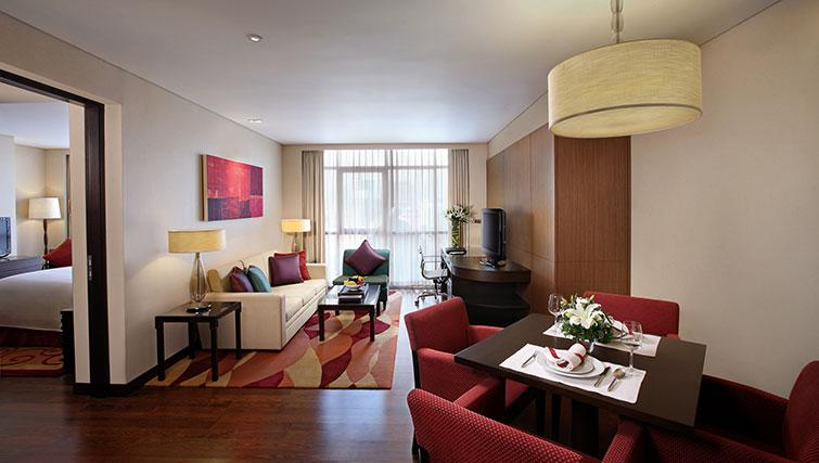 Spacious living area in Marriott Executive Apartments Sathorn Vista - Bangkok - Citybase Apartments