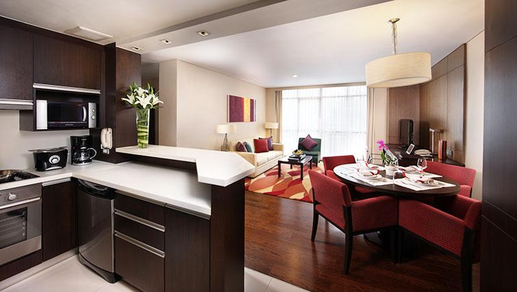 Equipped kitchen in Marriott Executive Apartments Sathorn Vista - Bangkok - Citybase Apartments