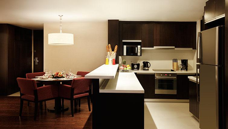Equipped kitchen at Marriott Executive Apartments Sathorn Vista - Bangkok - Citybase Apartments