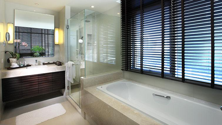 Pristine bathroom in Marriott Executive Apartments Sathorn Vista - Bangkok - Citybase Apartments