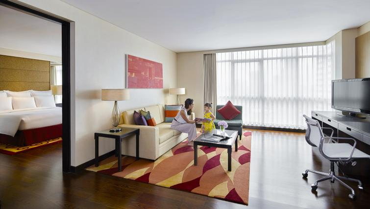 Living room at Marriott Executive Apartments Sathorn Vista - Bangkok - Citybase Apartments