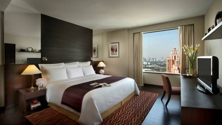 Stylish bedroom in Marriott Executive Apartments Sukhumvit Park - Bangkok - Citybase Apartments