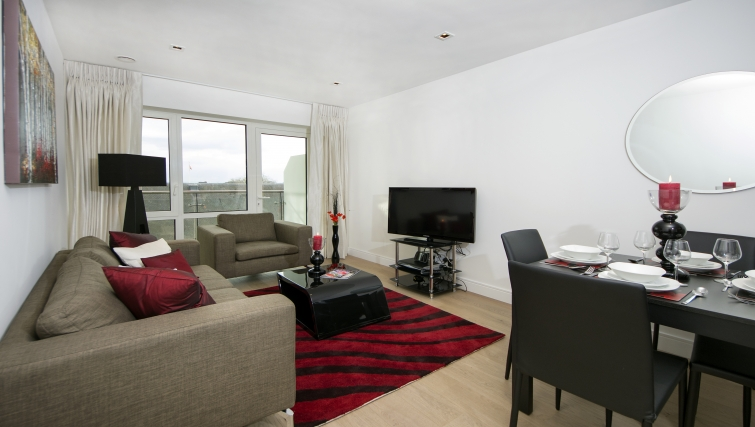 Modern living area in Dickens Yard Apartments - Citybase Apartments