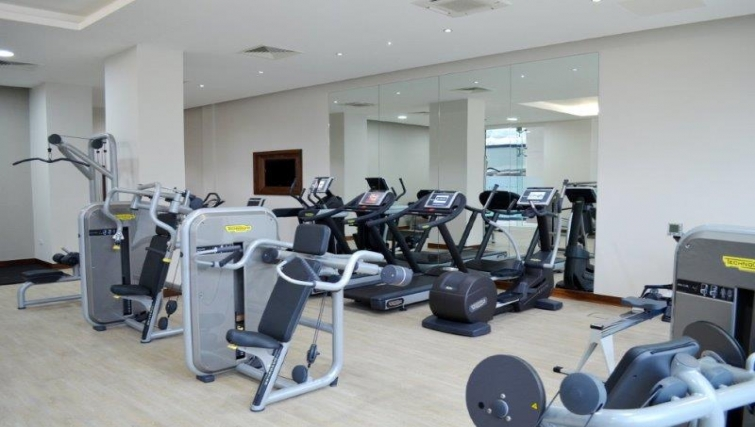 Equipped gym in Dickens Yard Apartments - Citybase Apartments