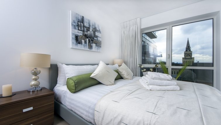 Bright bedroom in Dickens Yard Apartments - Citybase Apartments