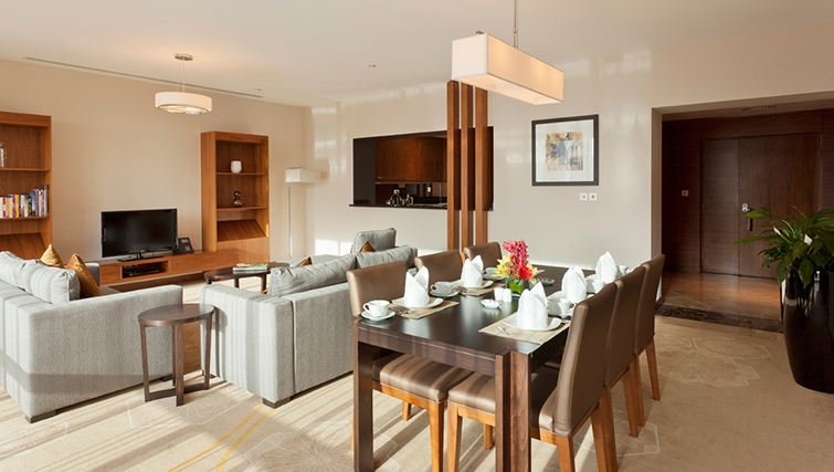 Sophisticated living area in InterContinental Doha The City - Citybase Apartments