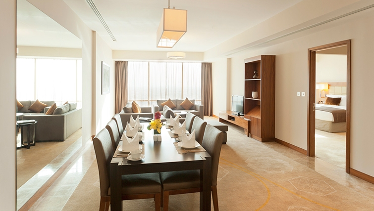 Elegant dining area in InterContinental Doha The City - Citybase Apartments