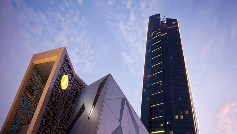 Stately exterior of InterContinental Doha The City - Citybase Apartments