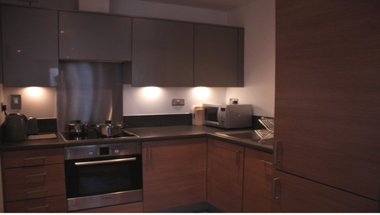 Equipped kitchen in Paper Mill Apartments - Citybase Apartments