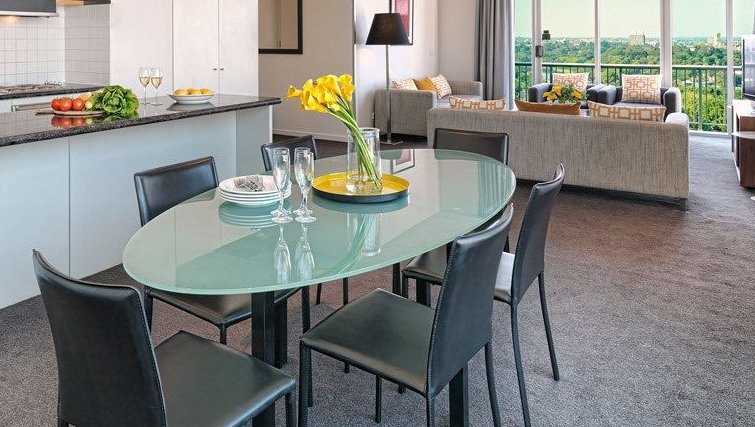 Beautiful dining area at Adina Apartment Hotel Melbourne, Flinders Street - Citybase Apartments