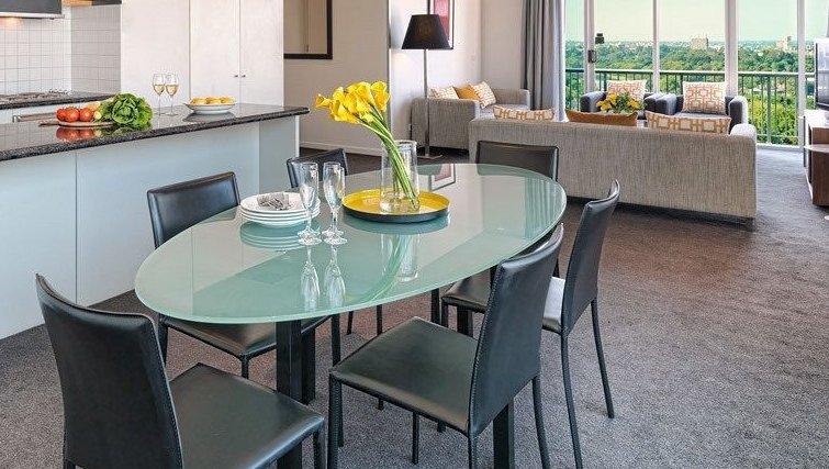 Beautiful dining area at Adina Apartment Hotel Melbourne, Flinders Street - Citybase Apartments