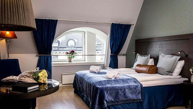 Stylish bedroom in Skovveien Apartments - Citybase Apartments