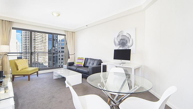Bright living area in Astra Regency Hyde Park Apartments - Citybase Apartments
