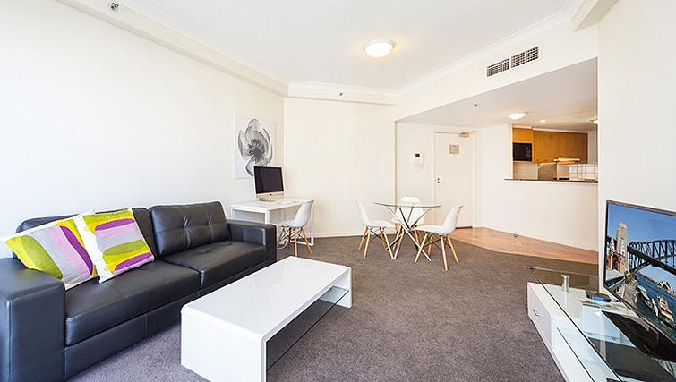 Tasteful living area in Astra Regency Hyde Park Apartments - Citybase Apartments