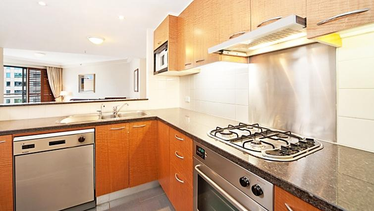 Spacious kitchen in Astra Regency Hyde Park Apartments - Citybase Apartments
