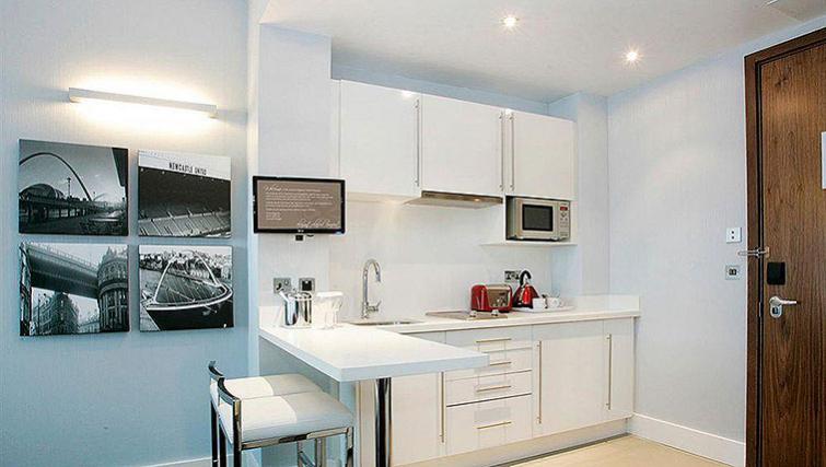 Open plan kitchen in Sandman Signature Newcastle Hotel - Citybase Apartments