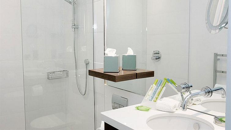 Pristine bathroom in Sandman Signature Newcastle Hotel - Citybase Apartments