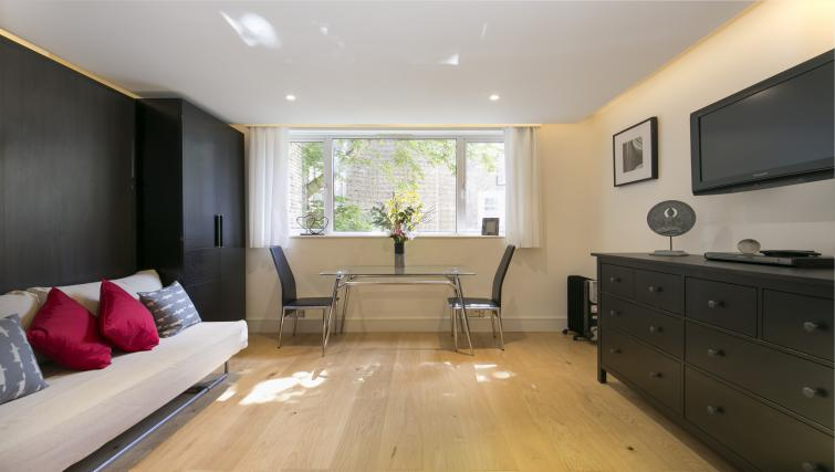 Open plan living area at The Armitage Hyde Park - Citybase Apartments
