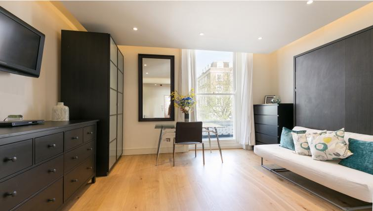 Cosy living area at The Armitage Hyde Park - Citybase Apartments