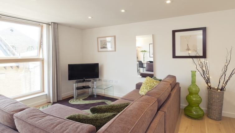Stylish living area at Cambridge Place Apartments - Citybase Apartments