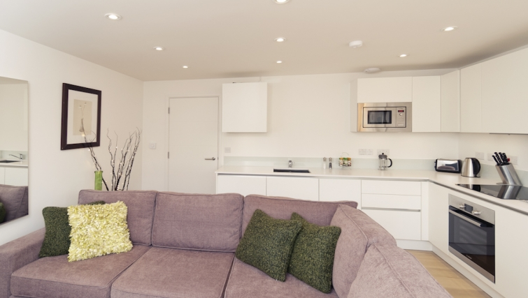 Well equipped kitchen area at Cambridge Place Apartments - Citybase Apartments