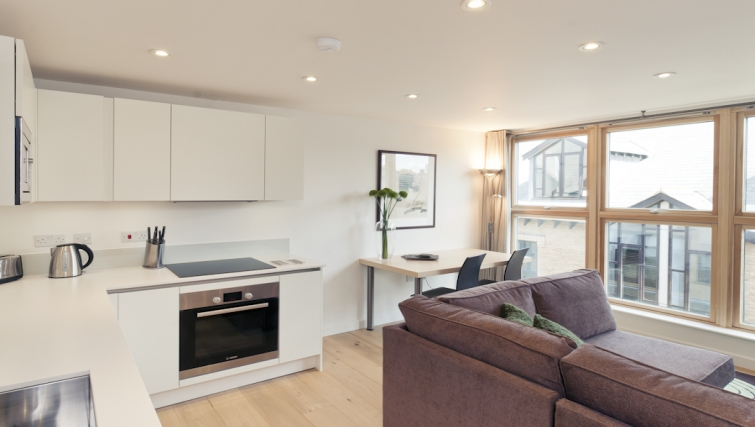 Modern living area at Cambridge Place Apartments - Citybase Apartments