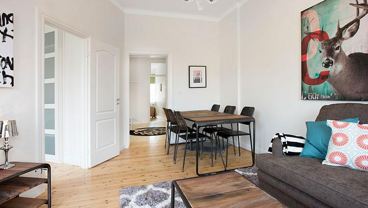 Bright dining area in Upplandsgatan Apartments - Citybase Apartments
