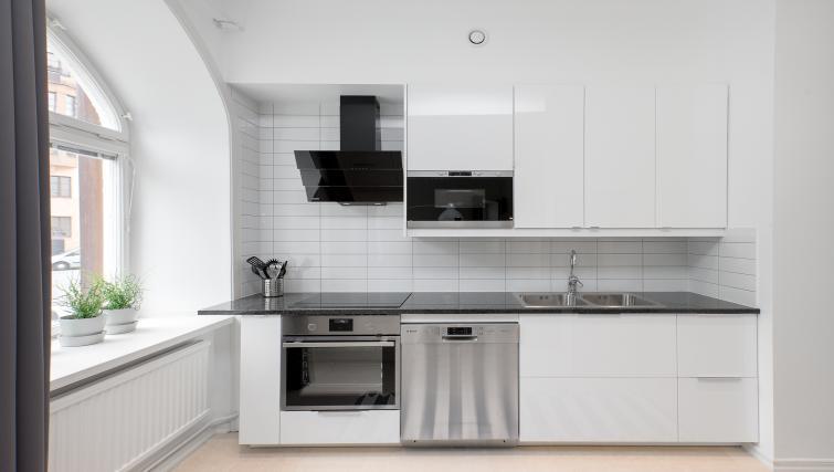 Living area at Upplandsgatan Apartments - Citybase Apartments