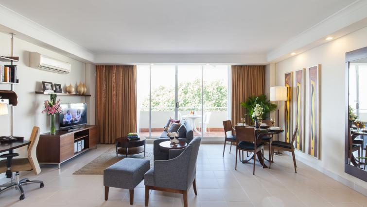 Living space at Somerset Chancellor Court Apartments - Citybase Apartments