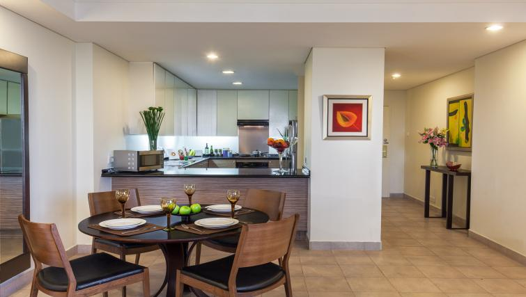 Equipped kitchen at Somerset Chancellor Court Apartments - Citybase Apartments