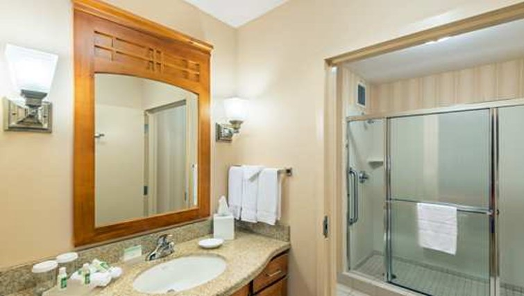 Small bathroom in Homewood Suites San Francisco Airport North - Citybase Apartments