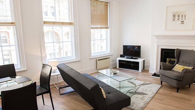 Cosy living room at West End by Q Apartments - Citybase Apartments
