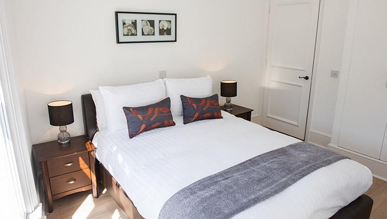 Cosy bedroom at West End by Q Apartments - Citybase Apartments