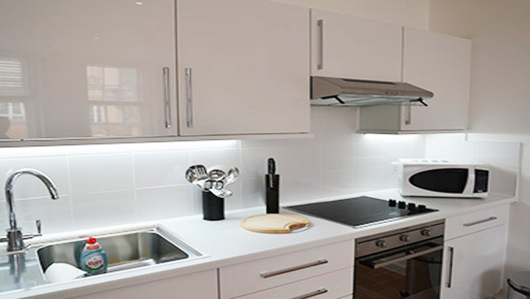Modern kitchen at West End by Q Apartments - Citybase Apartments
