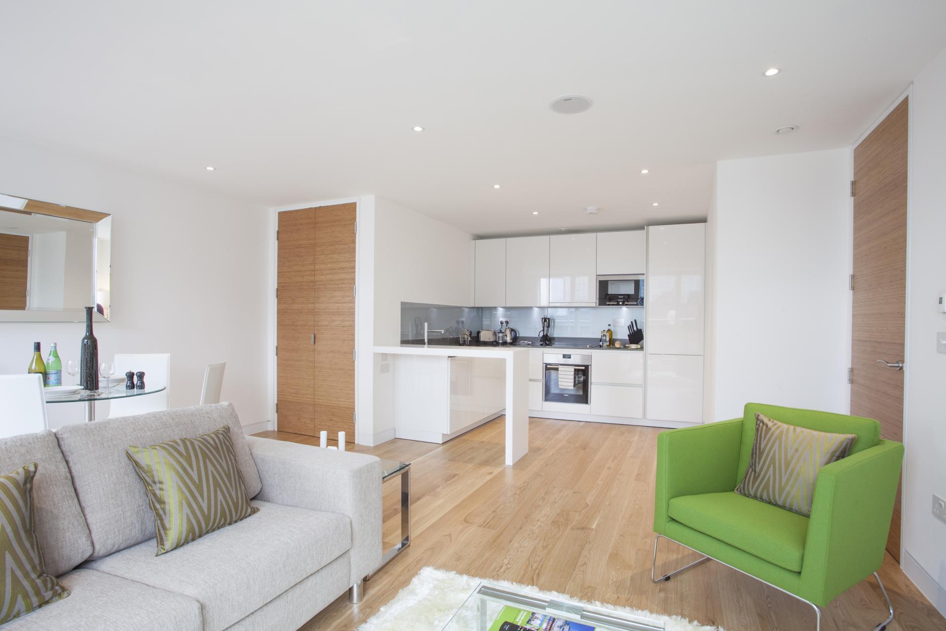 Sofa at London Square Apartments - Citybase Apartments