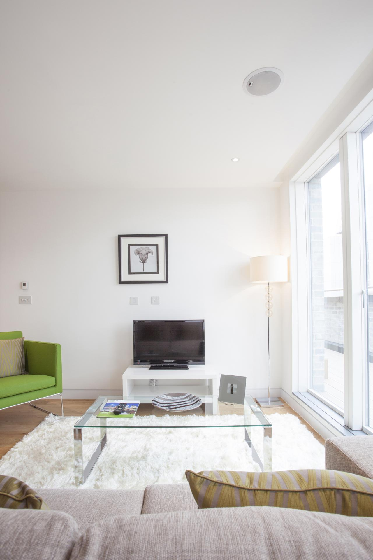 Modern lounge at London Square Apartments - Citybase Apartments