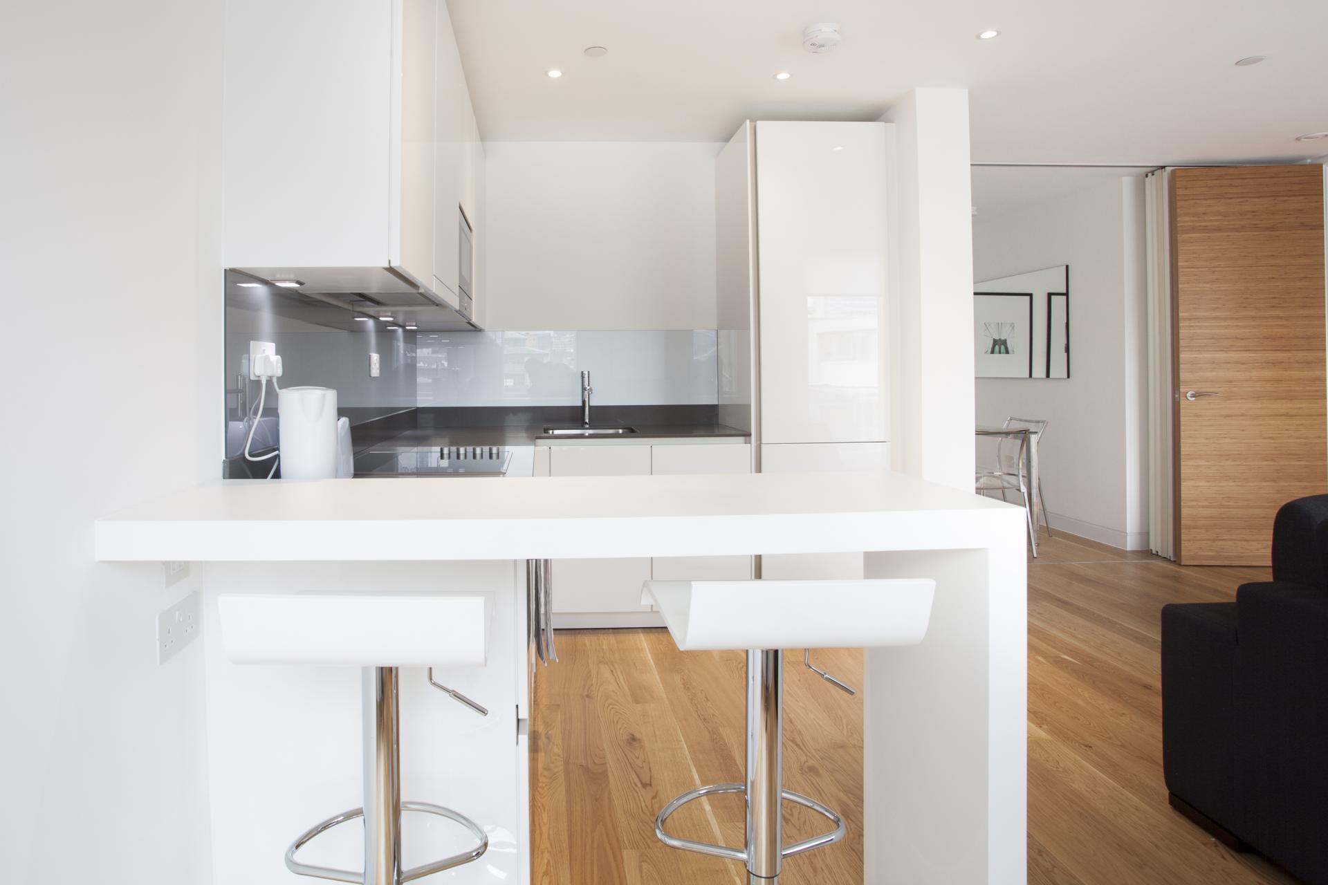 Sleek kitchen at London Square Apartments - Citybase Apartments