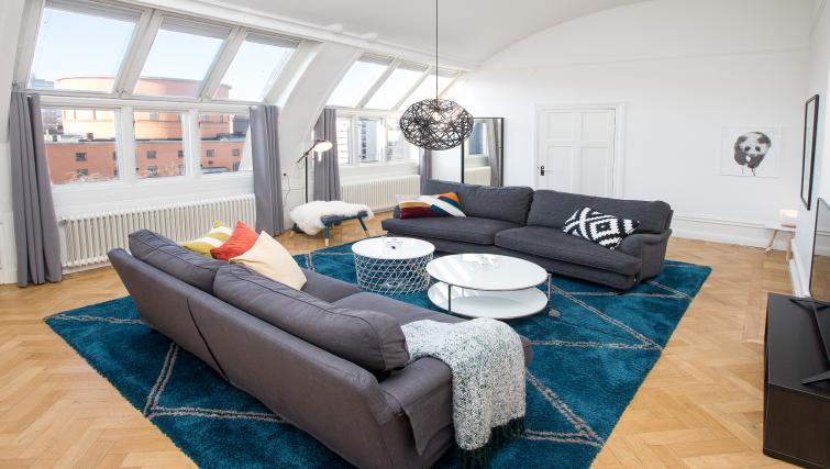 Bright living room at Vasastan Apartments - Citybase Apartments
