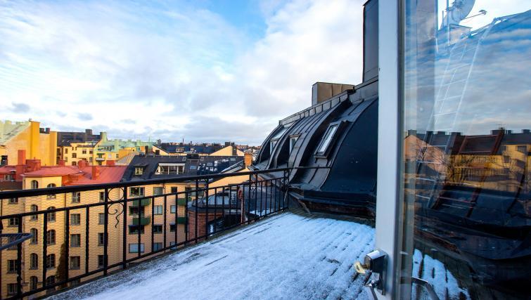 Balcony at Vasastan Apartments - Citybase Apartments
