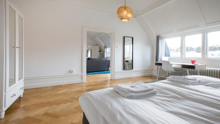 Modern bedroom at Vasastan Apartments - Citybase Apartments