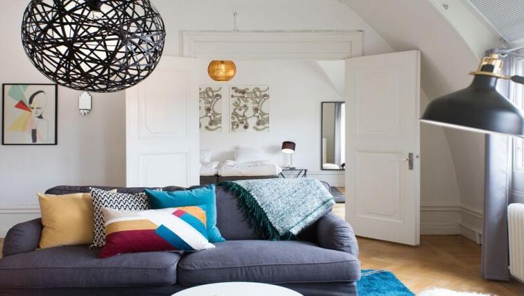 Sofa at Vasastan Apartments - Citybase Apartments