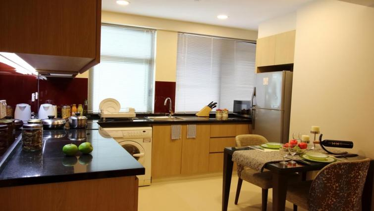 Kitchen area at Somerset Ho Chi Minh Apartments - Citybase Apartments