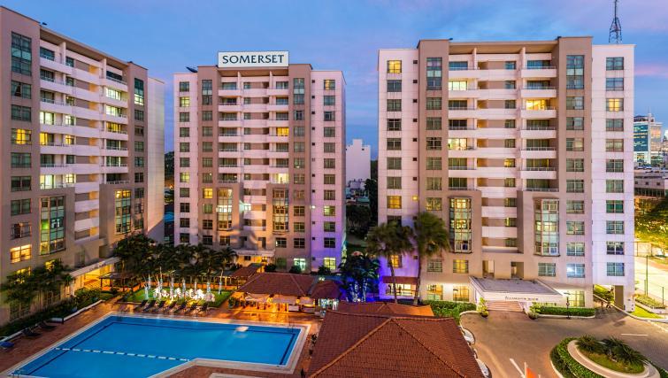 Exterior of Somerset Ho Chi Minh Apartments - Citybase Apartments