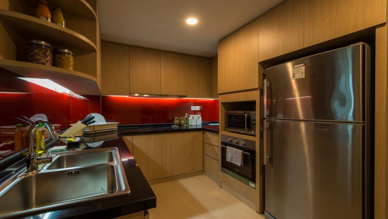 Modern kitchen at Somerset Ho Chi Minh Apartments - Citybase Apartments