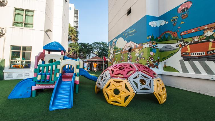 Outdoor play area at Somerset Ho Chi Minh Apartments - Citybase Apartments