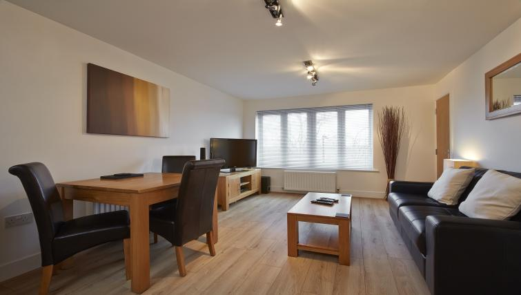 Living area at Burghley Court - Citybase Apartments